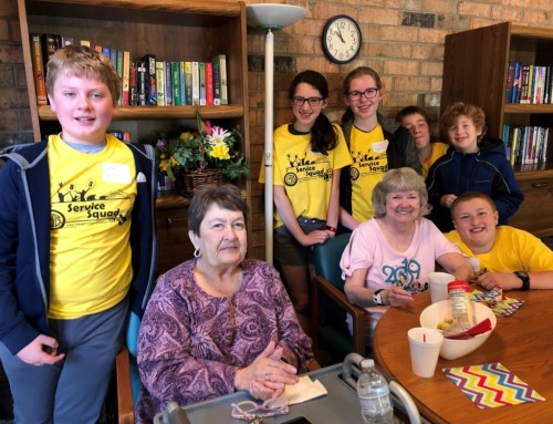 Youth Group Visits Older Adults