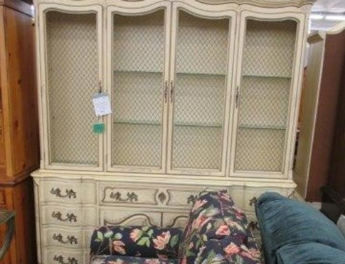 Item #140G – 2 Piece China Cabinet with Writing Desk – $45