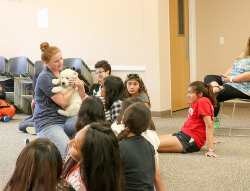 Therapy Dog Visits Quest Students at WYFS