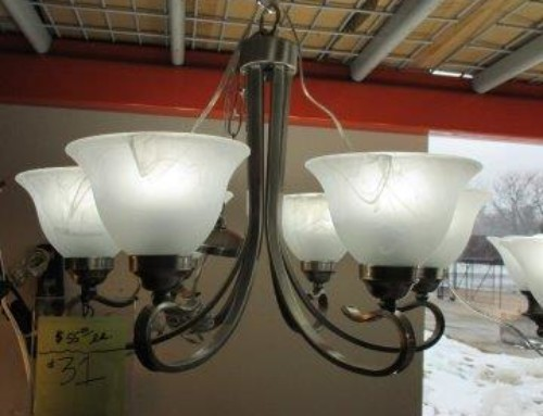 Item #102B/R – 6 Bulb Light, Many Available – $55
