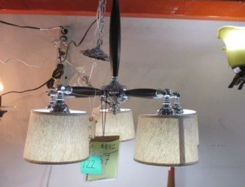 Item #122B/R – 5 Bulb Light Fixture, Many Available – $85