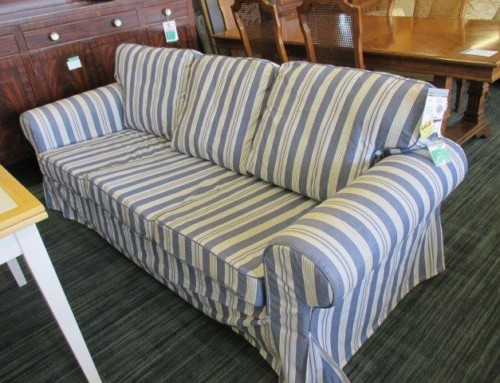 Item #88A – Striped Ikea Sofa – $Sale $93.75