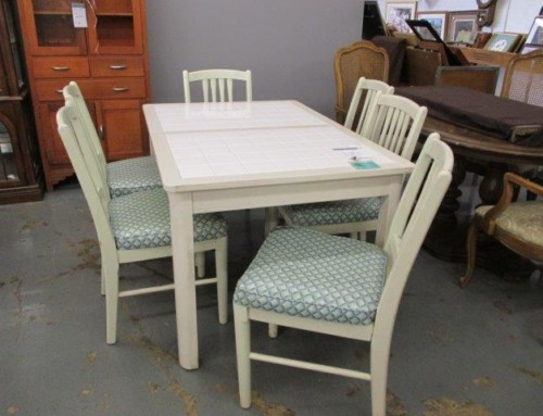 Item #93D – Tiled Top Table & 6 Chairs – $155