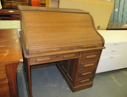 Item #26L – Antique Roll Top Desk – Sale $168.75