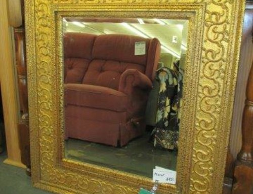 Item #46J – Pretty Gold Mirror – $85