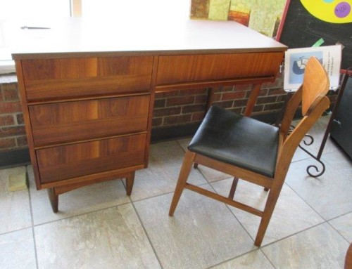 Item #70FRONT – Mid Century Modern Desk & Chair – $250