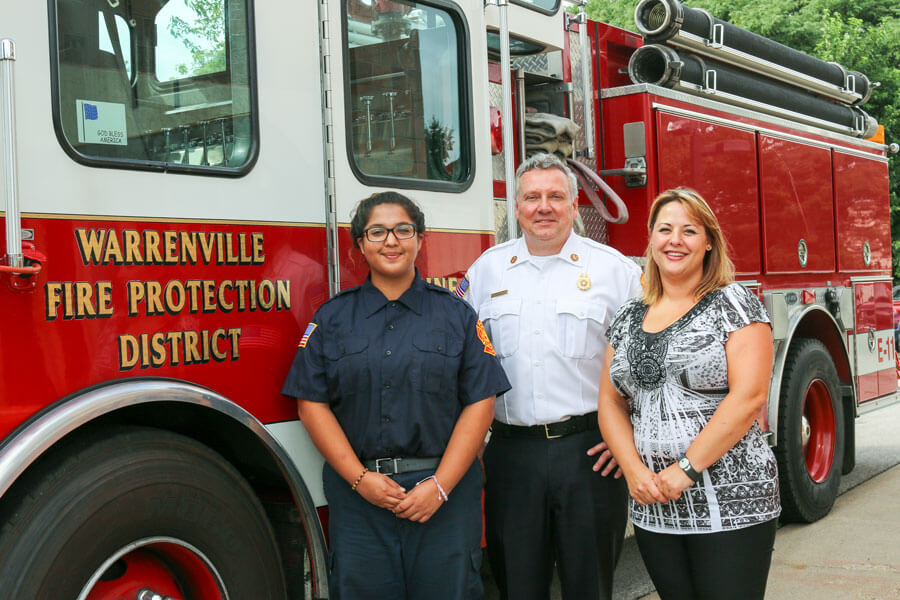 From L-R: Nathalie, Chief Rogers and Angela Mains